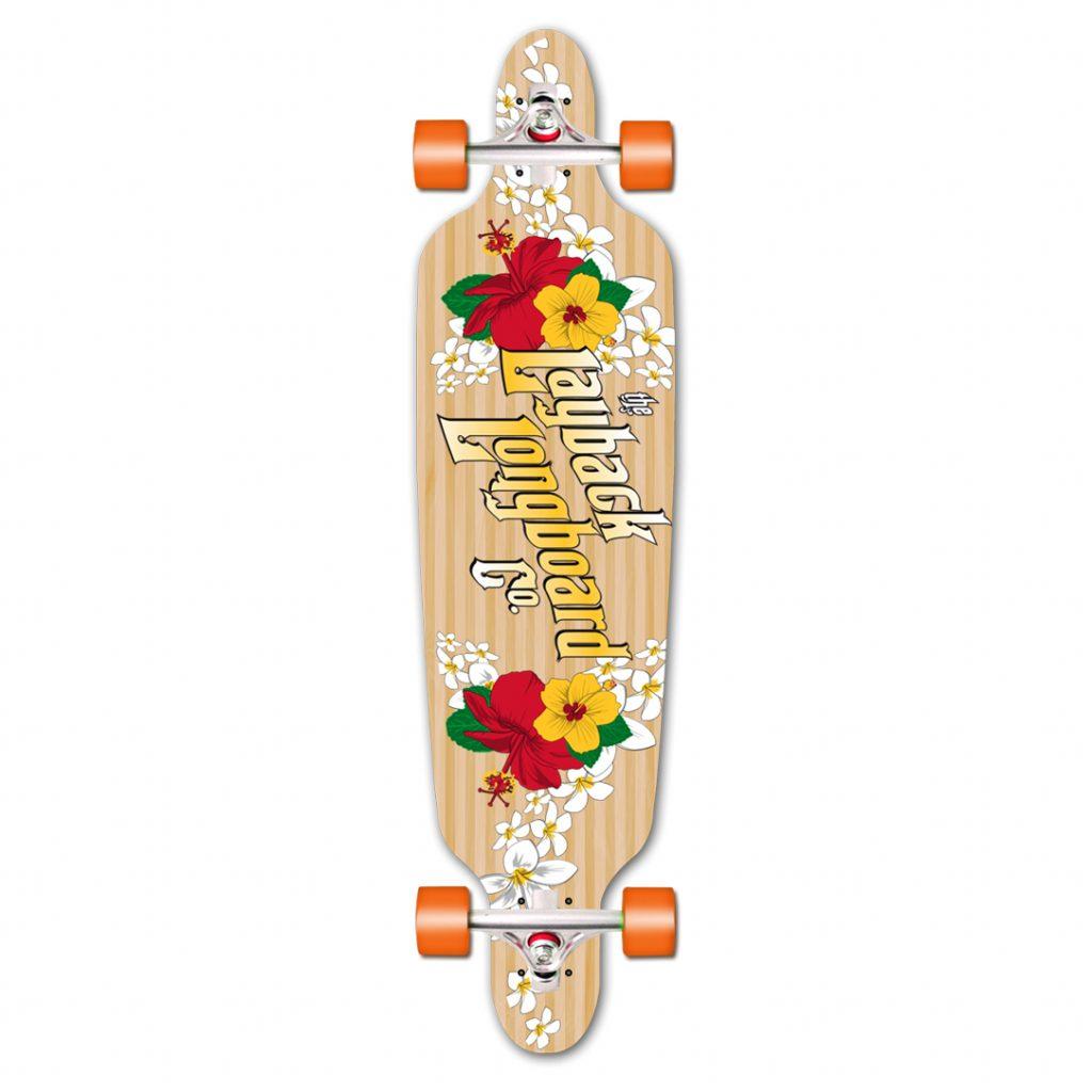 Skateboard-Layback-Longboard-Whahini-Striped-dropthru