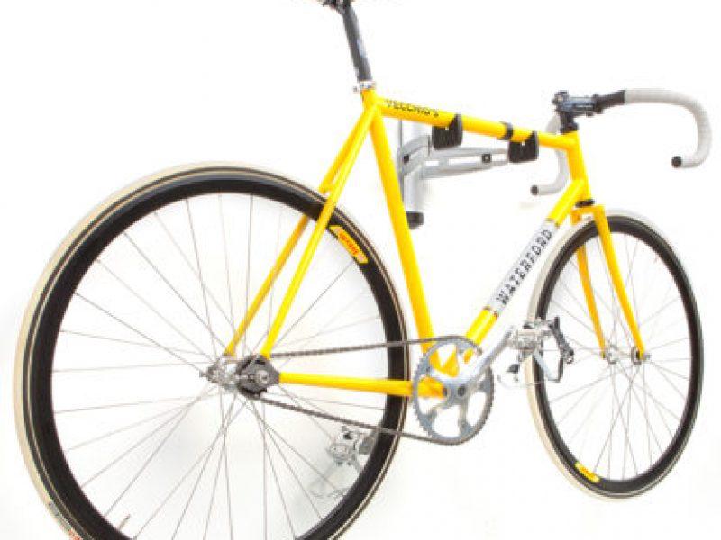Adjustable wall mount bike storage for one bike
